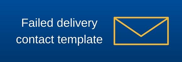 Failed international delivery contact template